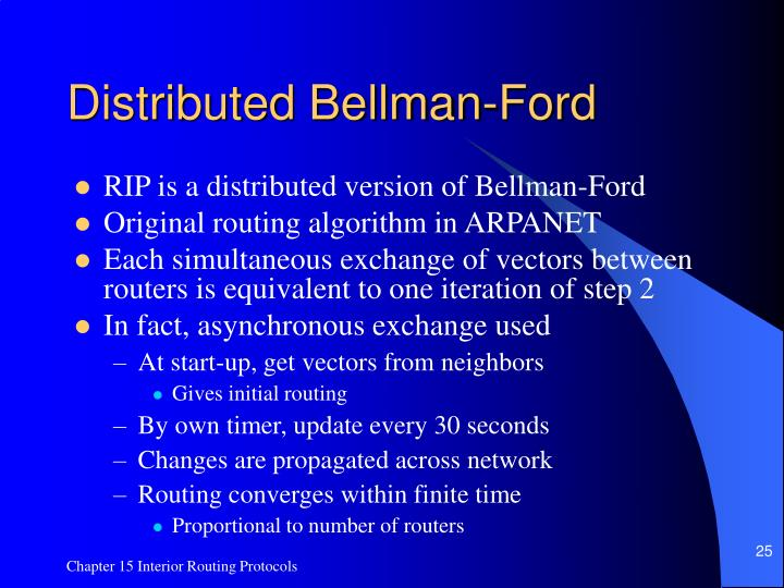 Distributed Bellman-Ford