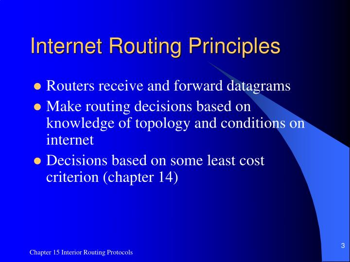 Internet routing principles