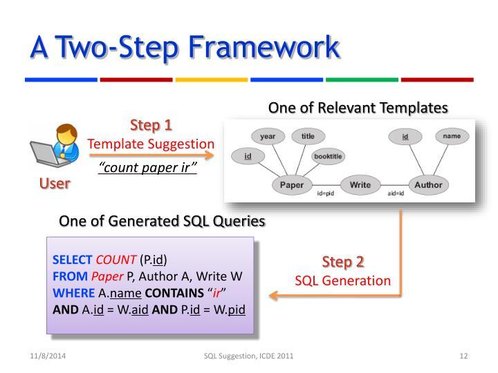 A Two-Step Framework