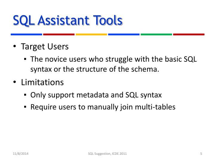 SQL Assistant Tools