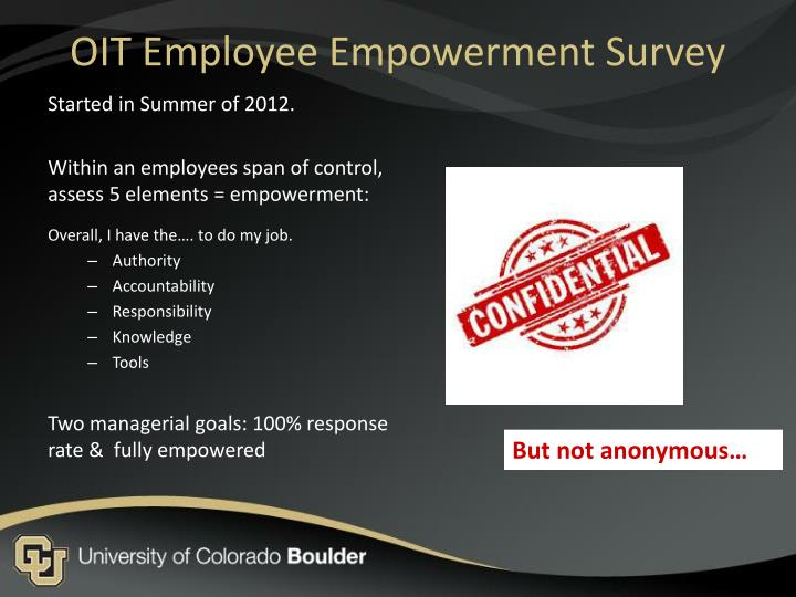 Oit employee empowerment survey