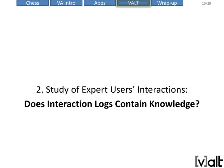 2. Study of Expert Users' Interactions: