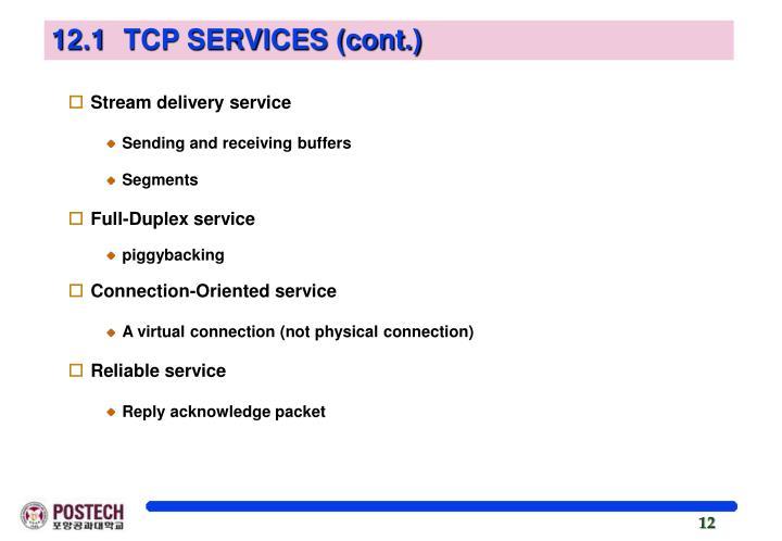 12.1 TCP SERVICES (cont.)