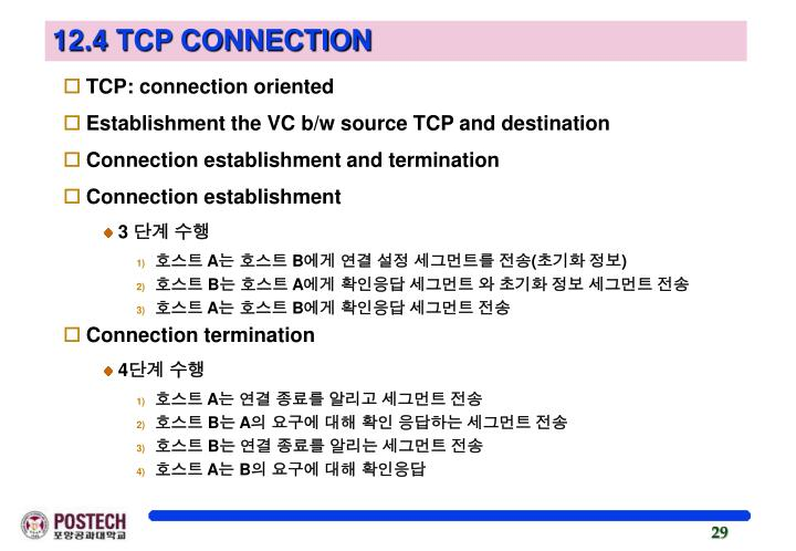 12.4 TCP CONNECTION