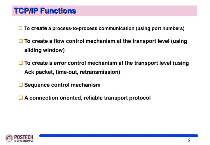 TCP/IP Functions