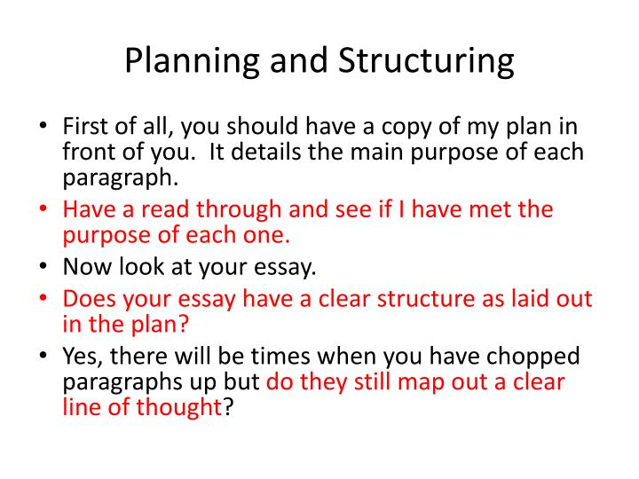 Planning and Structuring