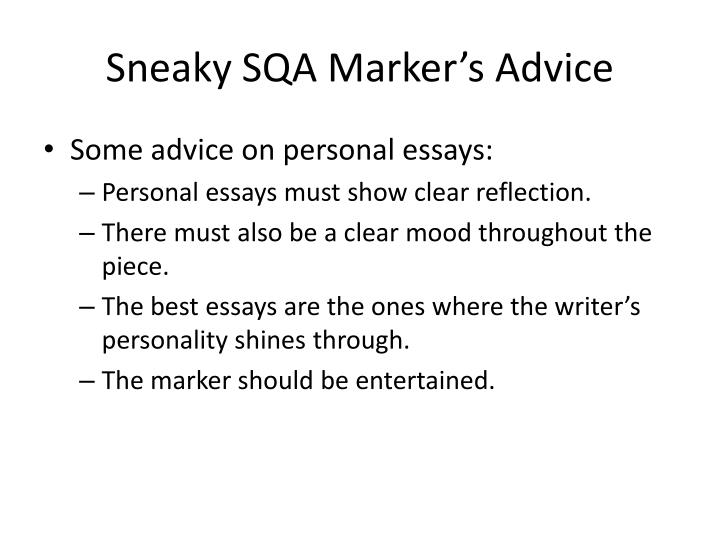 Sneaky SQA Markers Advice