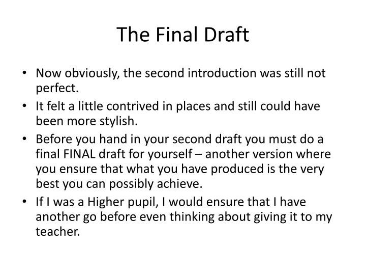 The Final Draft
