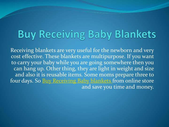 Buy receiving baby blankets