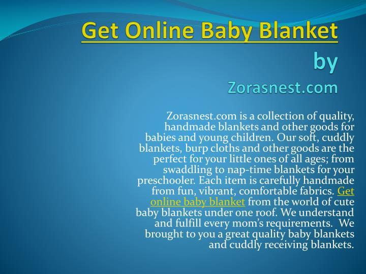 Get Online Baby Blanket
