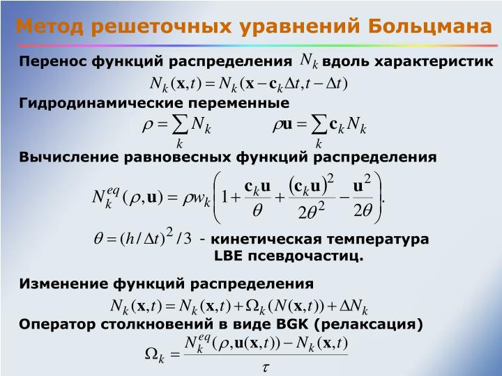 Метод решеточных уравнений Больцмана