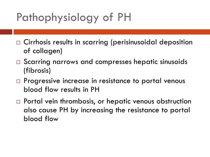 Pathophysiology of PH