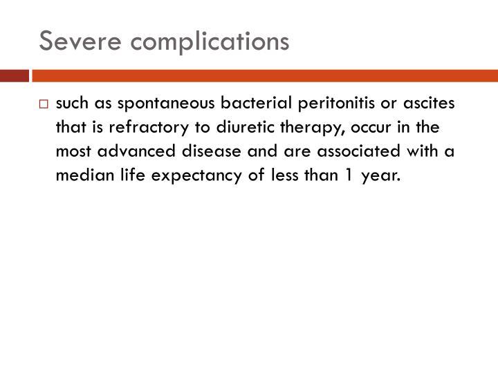 Severe complications