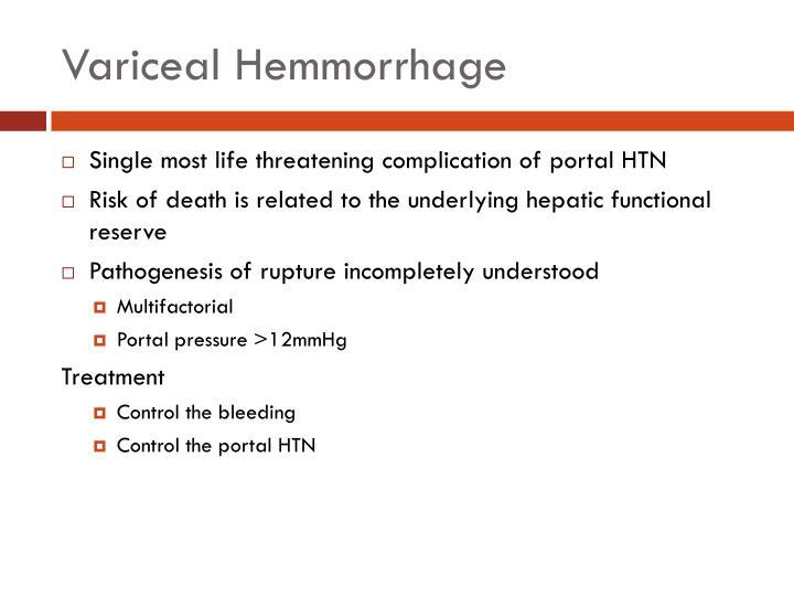Variceal Hemmorrhage