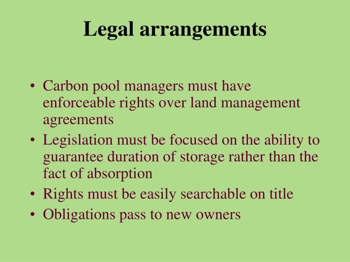 Legal arrangements