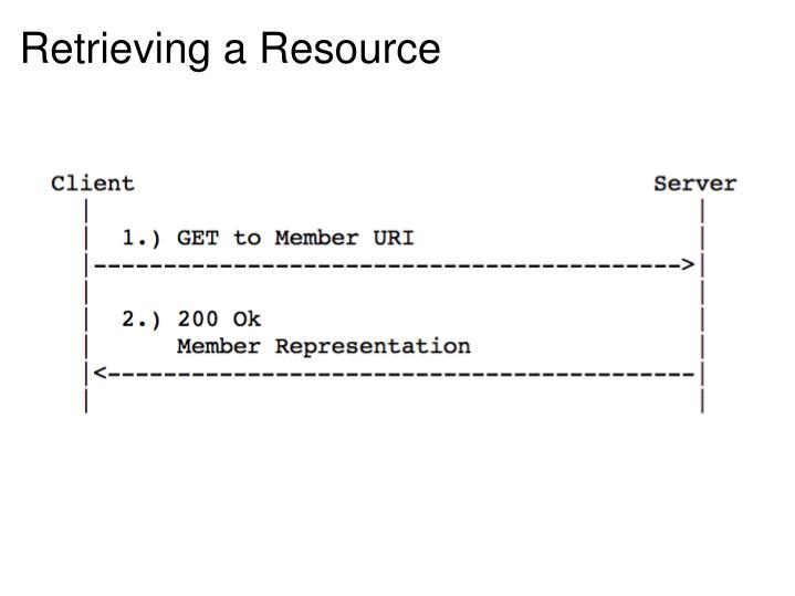 Retrieving a Resource