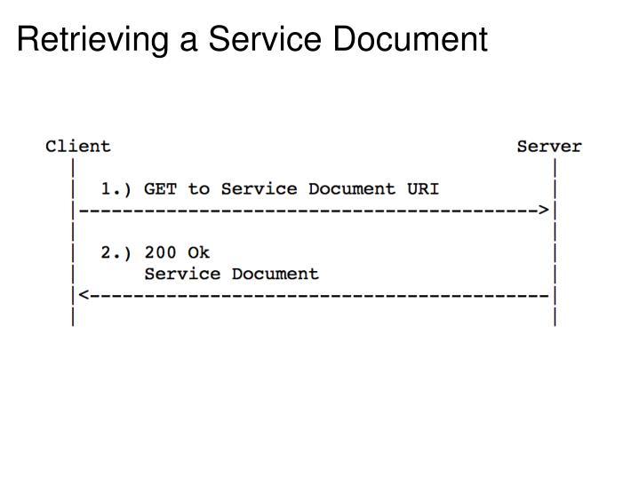 Retrieving a Service Document