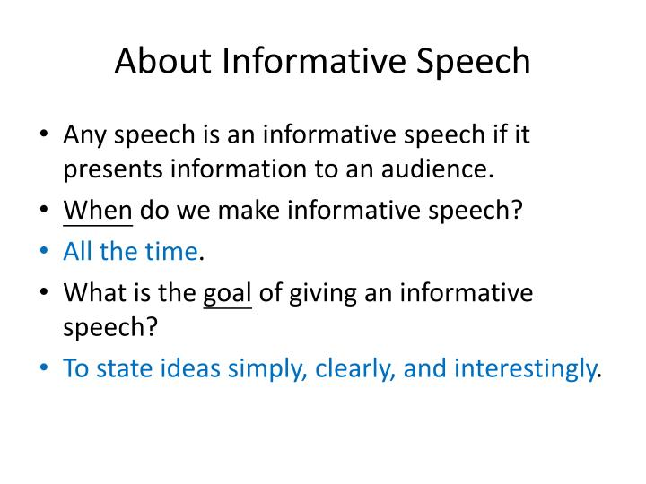 About Informative Speech