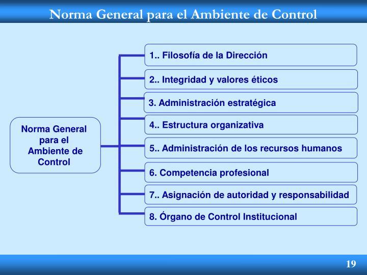 Norma General para el Ambiente de Control