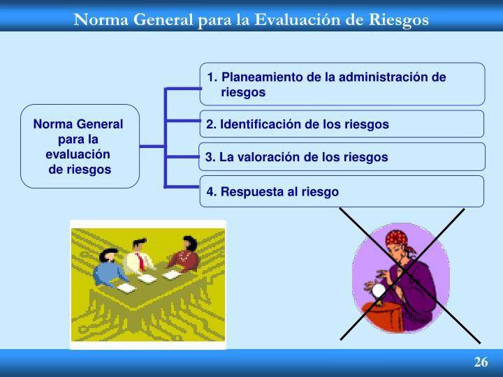 Norma General para la Evaluación de Riesgos