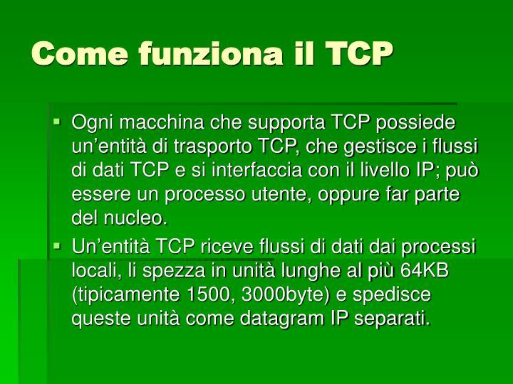 Come funziona il TCP