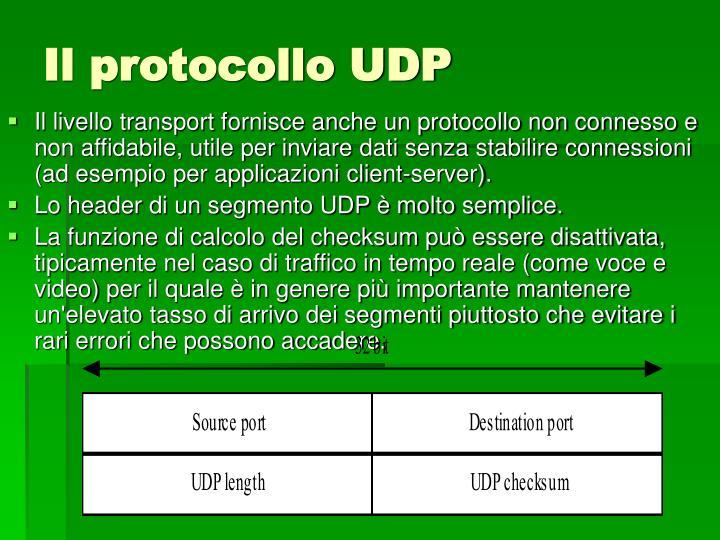 Il protocollo UDP