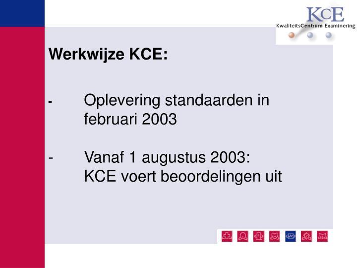 Werkwijze KCE