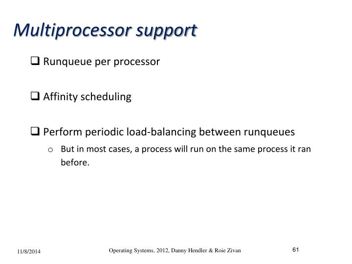 Multiprocessor support
