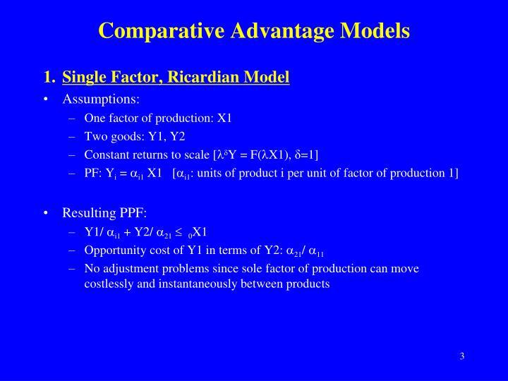 Comparative Advantage Models