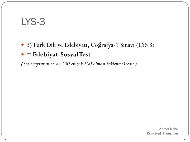LYS-3