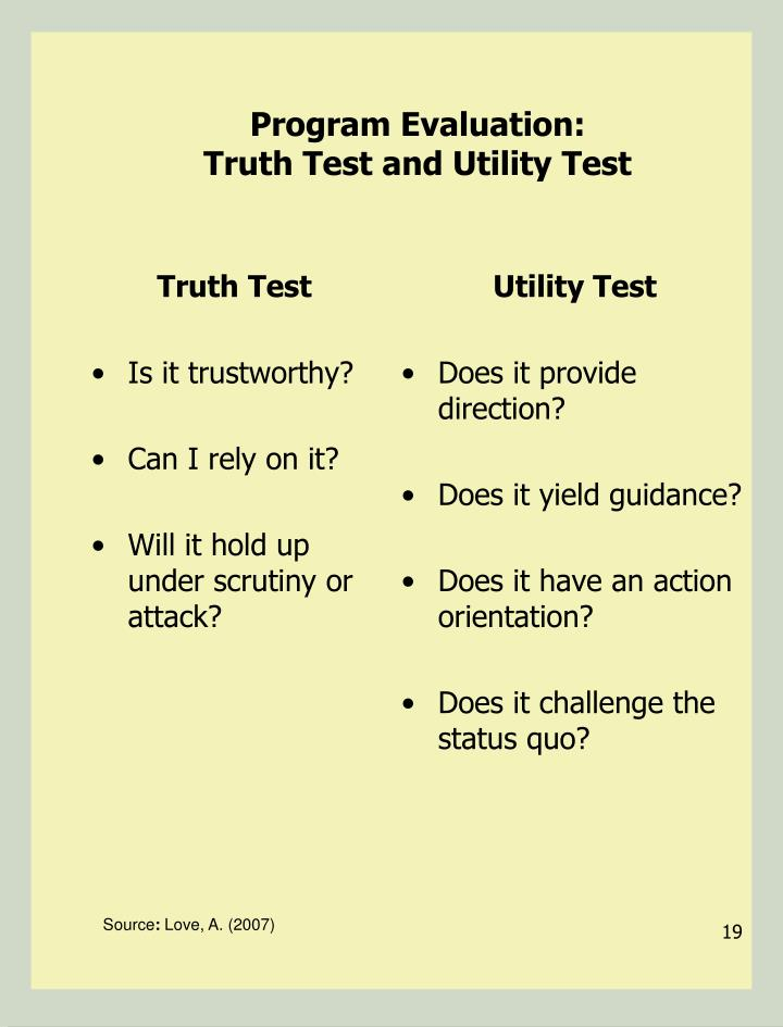 Truth Test