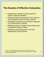 the results of effective evaluation