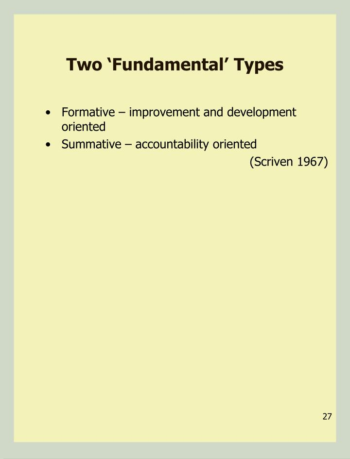 Two 'Fundamental' Types