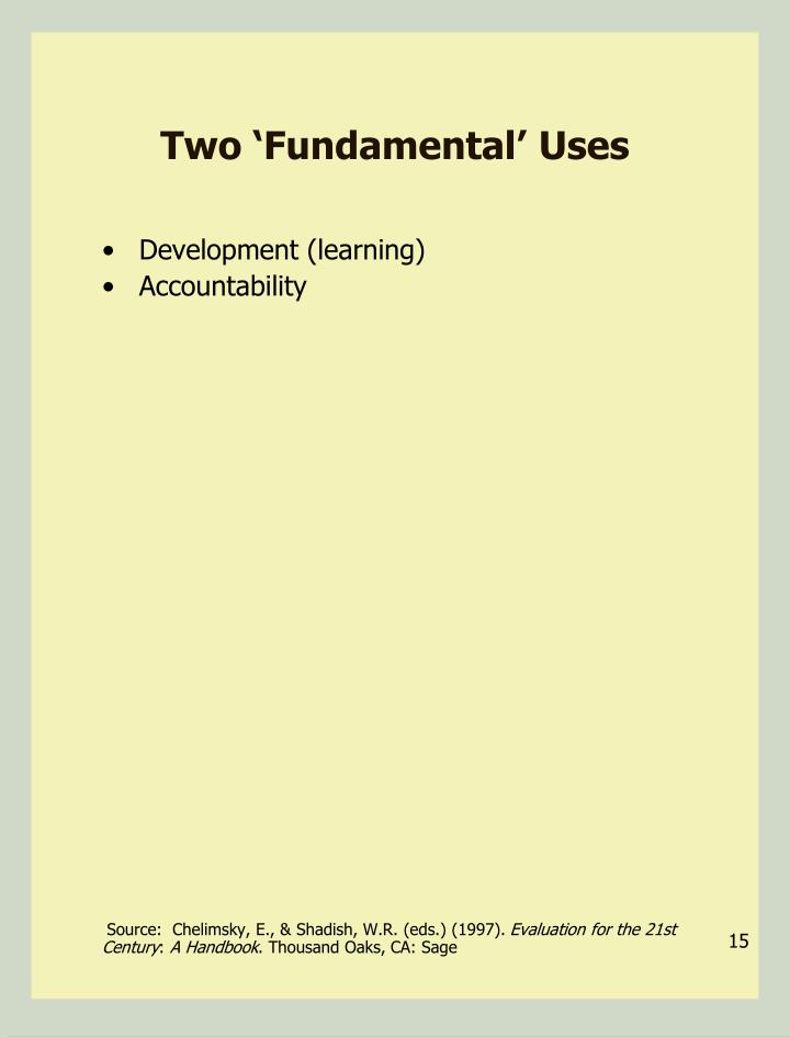 Two 'Fundamental' Uses