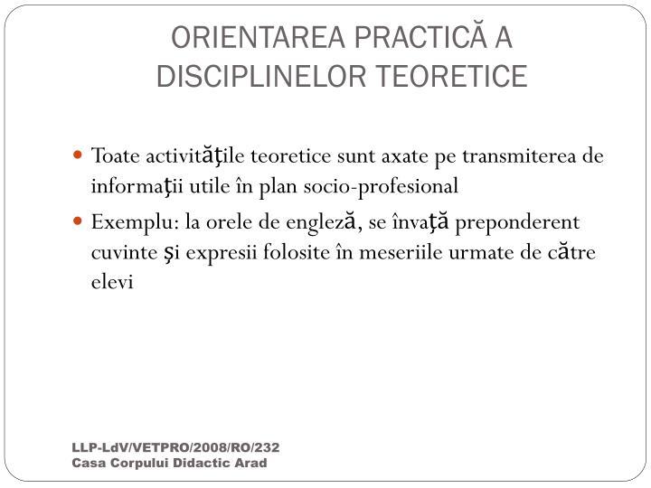ORIENTAREA PRACTIC