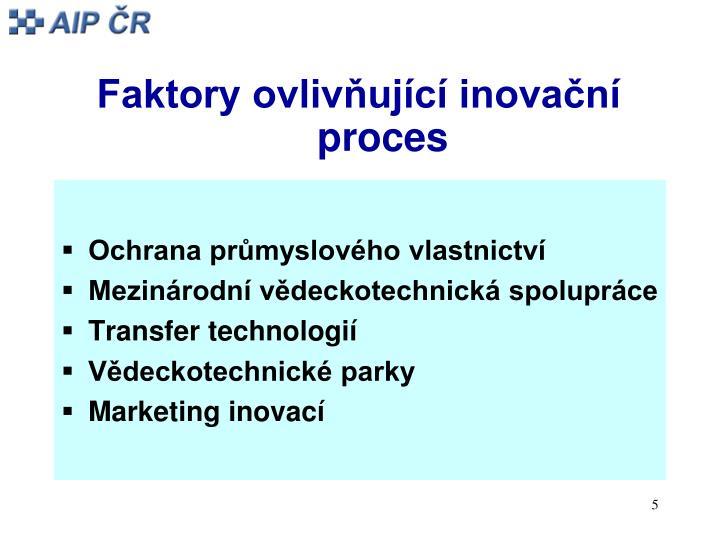 Faktory ovlivňující inovační proces