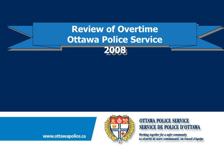 Review of Overtime
