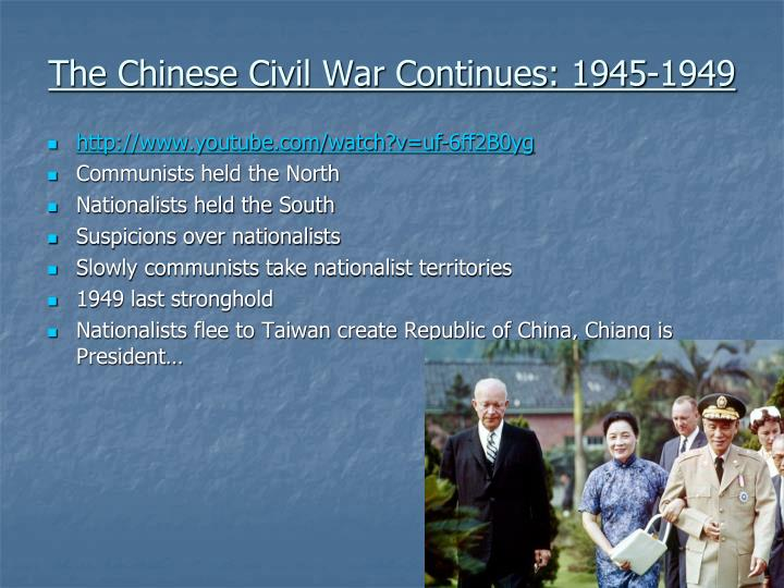 The Chinese Civil War Continues: 1945-1949
