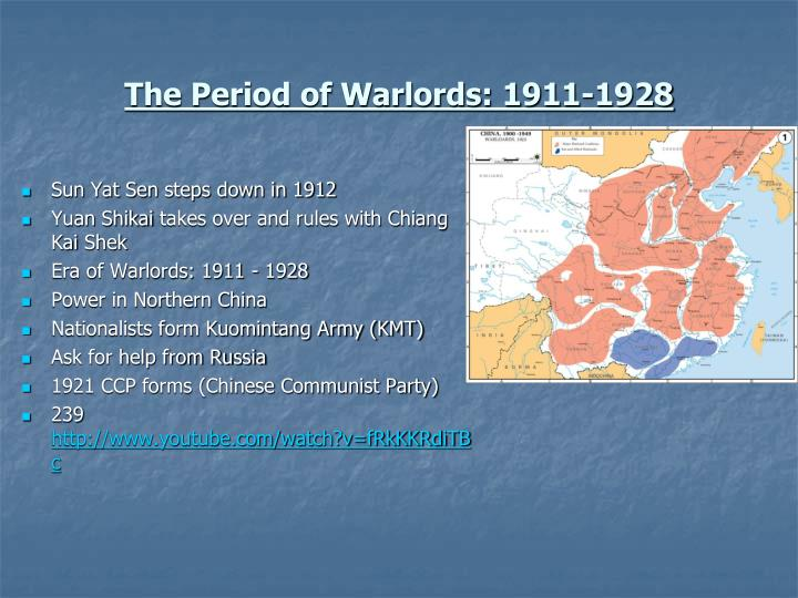 The period of warlords 1911 1928