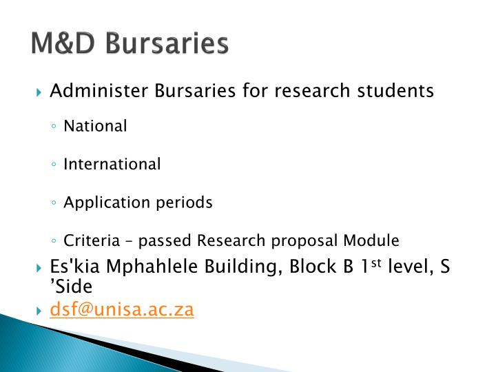 M&D Bursaries