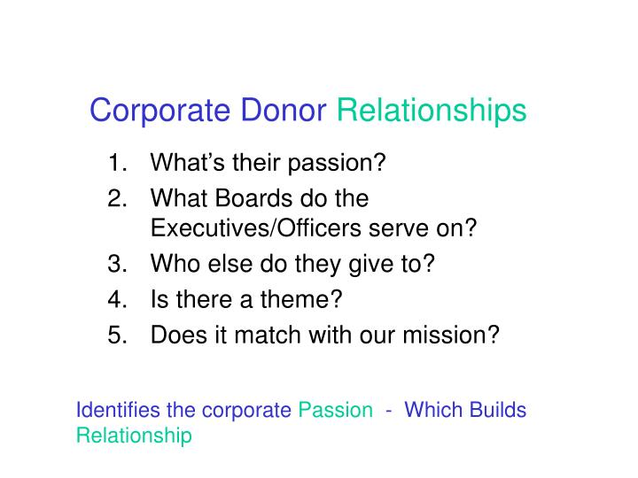 Corporate Donor