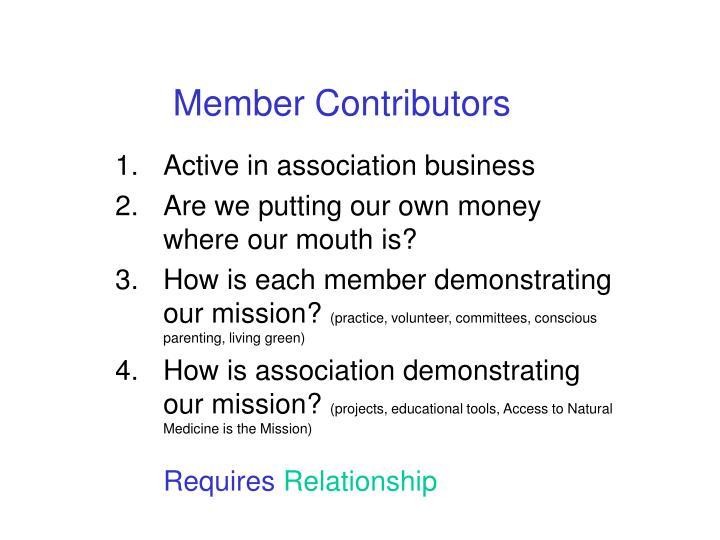 Member Contributors