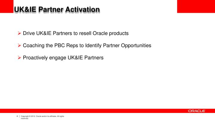 UK&IE Partner Activation