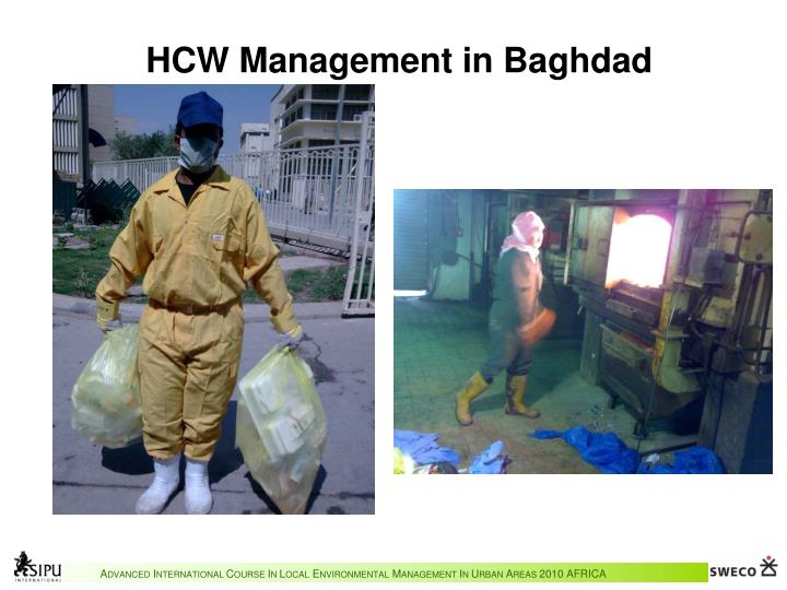 HCW Management in Baghdad