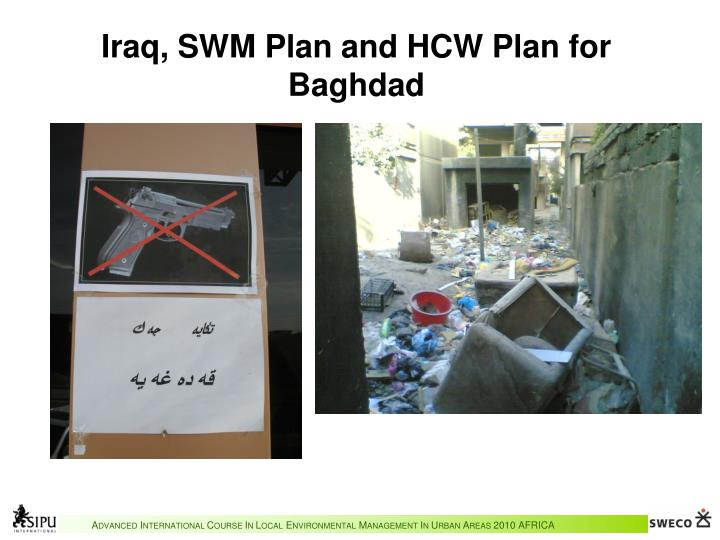 Iraq, SWM Plan and HCW Plan for Baghdad