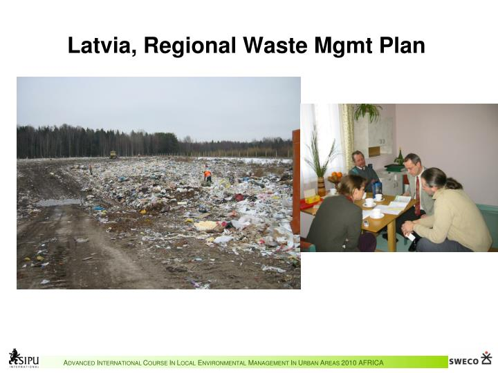 Latvia, Regional Waste Mgmt Plan
