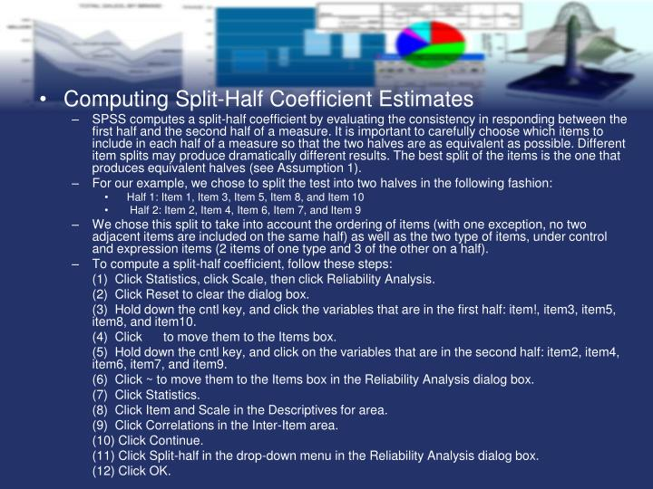 Computing Split-Half Coefficient Estimates