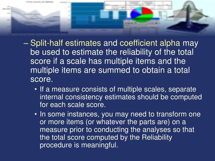 Split-half estimates