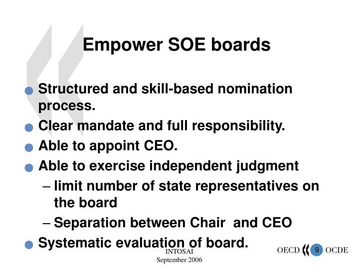 Empower SOE boards