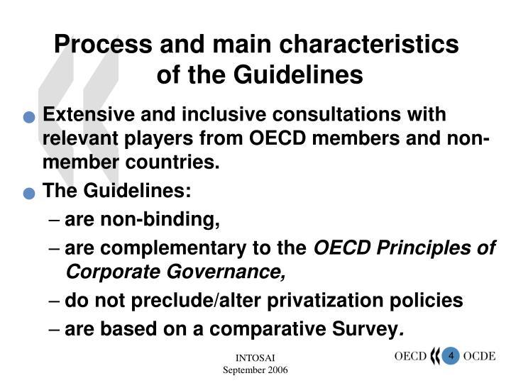 Process and main characteristics